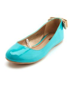 Patent Bow-Back Ballet Flat from Charlotte Russe. I LOVE shiny patent shoes, and how cute is the nude bow on the back?