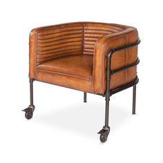 Lounge Singer Industrial Leather Chair | dotandbo.com