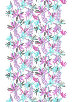 Lupiini Light, pink, design by Vilma Pellinen