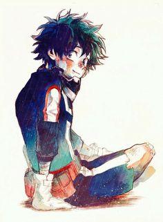 "Midoriya ""Deku"" Izuku, smiling, bandages; My Hero Academia"