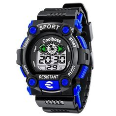 COOL BOSS Sport Student Kids Watches Boys Clock Child LED Digital Wristwatch Wrist Watch for Boy