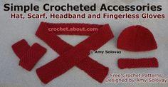 Simple Crochet Fingerless Gloves: These Fingerless Gloves Are Part of a Matching Set of Simple Crocheted Accessories.
