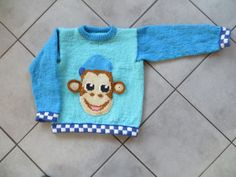 Trøje med politi-aben 6 år