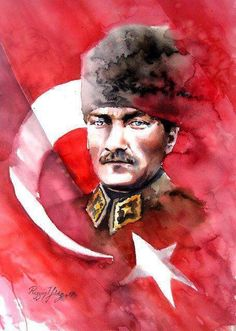 Atam... Most Beautiful Pictures, Cool Pictures, Republic Of Turkey, Pour Painting, Great Leaders, Kinds Of Salad, Acrylic Pouring, Art Sketchbook, Watercolor