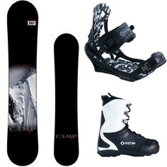 Camp Seven Valdez and APX Men's Snowboard Package New 2015
