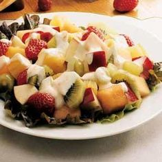 Best Fruit Salad - The combination of juices in the dressing brings out the fabulous flavors of all the fruits featured in this salad.This recipe is quick.
