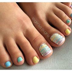 No photo description available. Cute Pedicure Designs, Toe Nail Designs, Finger Nail Art, Toe Nail Art, Feet Nails, My Nails, Manicure Y Pedicure, Pedicures, Nail Art For Kids