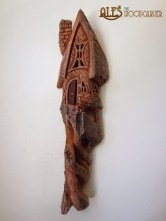 Bark Carving Whimsical Houses | Posted by Ales the Wood Carver at 10:47 No comments: