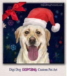 Give pet lovers a Holiday they'll never forget! Custom Pet Portrait by Digi Dog is the perfect gift for a close friend or a family member who truly love their pets. Order your custom Pet Art here - http://digitaldogportraits.com/go/petartlanding #dog #cat #GiftIdeas #Xmas #Christmas #pet #AnimalLovers