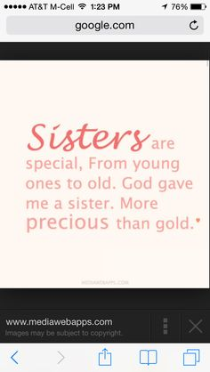 Nice sister sayings