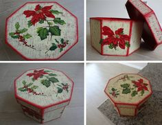 Caja navideña; decoupage + envejecido By Krn