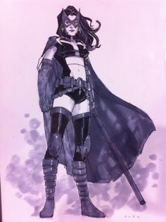 Huntress by Phil Noto, in Lauren Wizemann's Birds of Prey Sketches Comic Art Gallery Room Comic Book Heroines, Dc Comics Characters, Comic Book Artists, Comic Books Art, Comic Art, Bruce Timm, Justice League, Phil Noto, Comic Book Girl