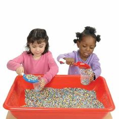 Multi-Colored Plasti-Pellets by ConstructivePlaythings. $39.99. Add a new dimension to your sensory table with plastic pellets. Smooth to the touch, the pellets are scoopable and pourable. A different alternative to sand and much cleaner. Colors may vary. 10 lb. bag. Ages 3 yrs. +.