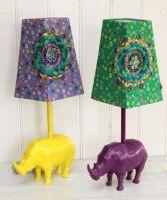RICE - Lampfot - noshörning i metall