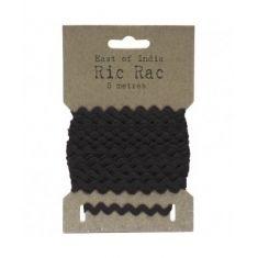 RIC RAC RIBBON BLACK 5M
