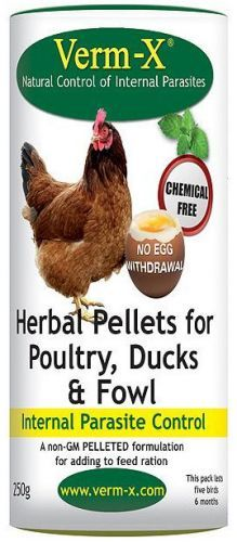 Verm-X Pellets for Poultry 4kg Tub