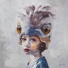 'O malleefowl II, yungaay' by Nic Mason http://www.celesteprize.com/artwork/ido:388139/ #painting #portrait