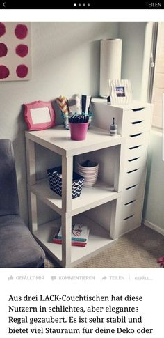 IKEA Lack Tables Placed Together…great idea for a bedside table or end table i. - Ikea DIY - The best IKEA hacks all in one place Hack Ikea, Ikea Lack Table, Lack Table Hack, Ikea Side Table, Diy Home Decor, Room Decor, Diy Casa, Home And Deco, My New Room