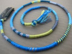 Thunderstorm- hippie style hair wrap extension by downhomepurl, $11.50