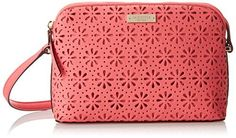 New York Cedar Street Perforated Mandy Cross Body Bag – Surprise Coral – One Size