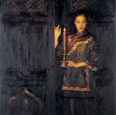 Chen Yifei - Beauty with Candle