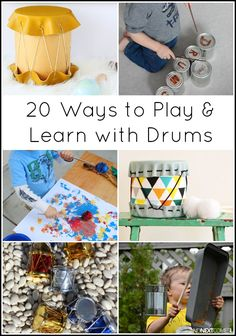 Music activities for kids: 20 ways to play & learn with drums from And Next Comes L