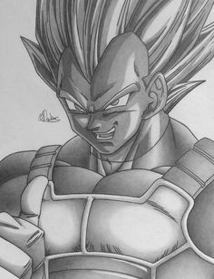 Andddd here he is! Finally done! I took so long doing the shading it's crazy! I want it to be perfect for the competition! What do you think? My first Dragon Ball Z drawing in over a month! Hope I ...