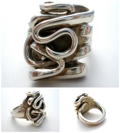 Vintage Sterling Fork Ring Roger Williams Silver Co. Size 12 ***ALSO SEE Vintage Jewelry at: http://MyClassicJewelry.com/shop