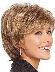 Synthetic Wig Wavy Style With Bangs Capless Wig Strawberry Blonde Synthetic Hair Women's Highlighted / Balayage Hair Brown with Golden Highlights Wig Short Natural Wigs Short Choppy Hair, Short Hairstyles For Thick Hair, Short Hair Wigs, Wig Hairstyles, Curly Hair Styles, Pixie Styles, Short Haircuts, Pretty Hairstyles, Style Hairstyle