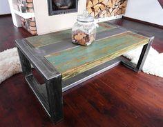 Mesa rústica madera reciclada hecha a mano y por DesignInFocus