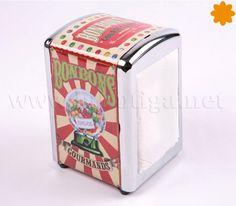 Servilletero bonbons gourmands dispensador de servilletas de papel Este dispensador de servilletas retro vintage seguro que alegra cualquier rincón de la mesa barra o cocina.