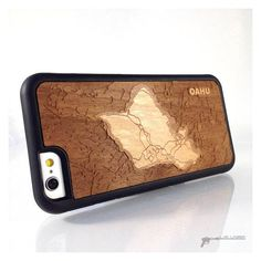 This case features a real wood, simple map of Oahu, part of the beautiful Hawaiian Islands, in multiple depth layers. Bathymetric maps are also called 3D maps, Depth Maps, Depth Charts and any number of other titles. They basically measure the depth of a body of water. Due to the size, our