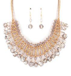 Crystal Mina Necklace in Black Diamond on Emma Stine Limited