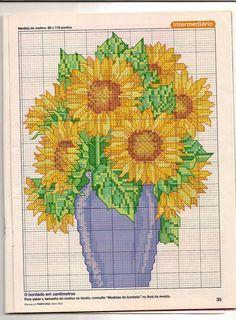 Amo questo quadro del grande Vincent         forse per questo adoro i girasoli... anche a punto croce!!                                   ...