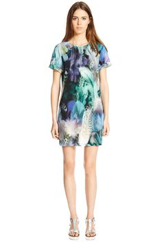 Dresses | Other Feather Print Tunic Dress | Warehouse, £38.00