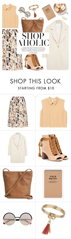 """shopaholic"" by valentino-lover ❤ liked on Polyvore featuring Oscar de la Renta, Monki, MANGO, Chloé, BAGGU, Marc by Marc Jacobs, Topshop and Irene Neuwirth"