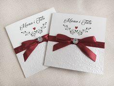 Prośba o błogosławieństwo, prośba o świadkowanie, ślub, wesele, bordo, czerwony