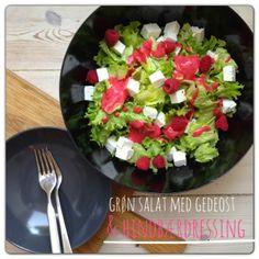 Vanløse blues.....: Salat med gedeost og hindbærdressing
