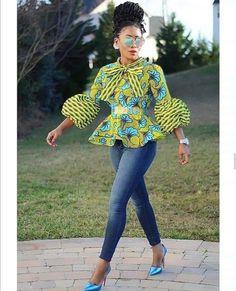 Short African Dresses, African Fashion Skirts, African Print Fashion, Africa Fashion, Ankara Fashion, African Prints, Short Dresses, Ankara Tops Blouses, Ankara Blouse