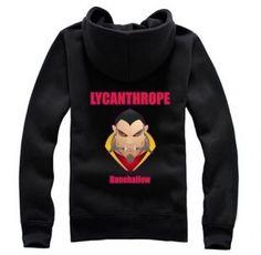 DOTA 2 herói Lycanthrope fecha acima o hoodie para o projeto homens fleece