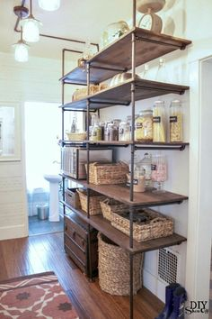 Urban Industrial, Industrial Shelving, Industrial Apartment, Industrial Decorating, Shelving Design, Apartments, Decoration, Building A Chicken Coop, Coops