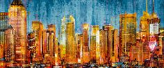 Blue Lights  - Metal Prints - www.galleani-art.com