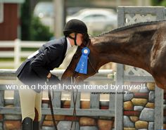 I've bred, raised, and trained, but the win is still elusive.