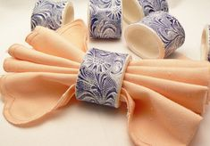Handmade Six-Piece Ceramic Napkin Rings in by BellaTerraCeramics