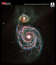 The Whirlpool Galaxy (Messier Mauna Kea - Hawaii with the Canada-France-Hawaii Telescope Carl Sagan Cosmos, Hubble Space Telescope, Space And Astronomy, Nasa, Galaxy Photos, Spiral Galaxy, Whirlpool Galaxy, Andromeda Galaxy, Galaxy Space