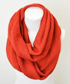 Take a look at this Leto Collection Rust Infinity Scarf on zulily today!