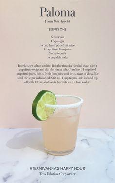 Summer cocktail courtesy of #TeamIvanka  Hold the salt on mine, though