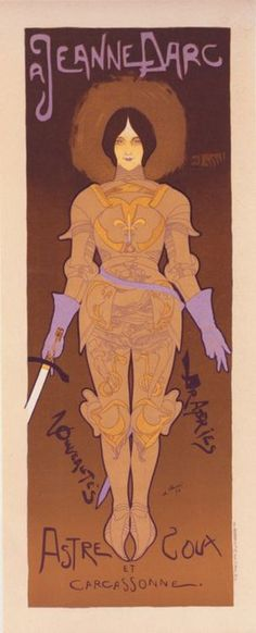 Joan of Arc    Georges de Feure    1896- I keep thinking about this...