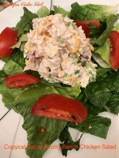 Copycat Sassy Scotty Ranch Chicken Salad | Tampa Cake Girl Chicke Recipes, Chicken Salad Recipes, Chicken Salads, Chicken Salad Chick Recipe Copycat, Chicken Salad With Fruit Recipe, Copykat Recipes, Fresh Vegetables, Fruits And Veggies, Pho