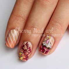 Instagram Nail Art Cupcake, Cherry Nail Art, Cupcakes, Instagram Posts, Beauty, Cupcake Cakes, Beauty Illustration, Cup Cakes, Muffin
